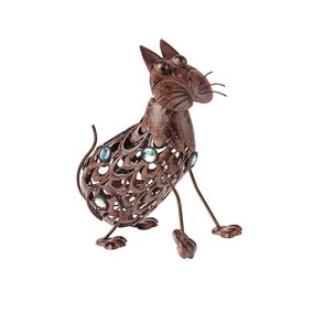 Solar Powered Cut Out Garden Cat Light