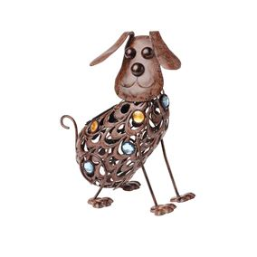 Solar Powered Cut Out Garden Dog Light
