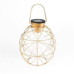 Solar Powered Sphere Geometric Garden Light