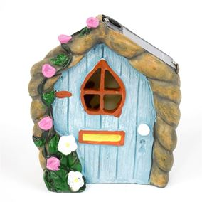 The Willowdale Collection Blue Fairy Door Solar Light