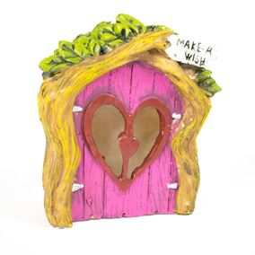 The Willowdale Collection Pink Heart Fairy Door Solar Light