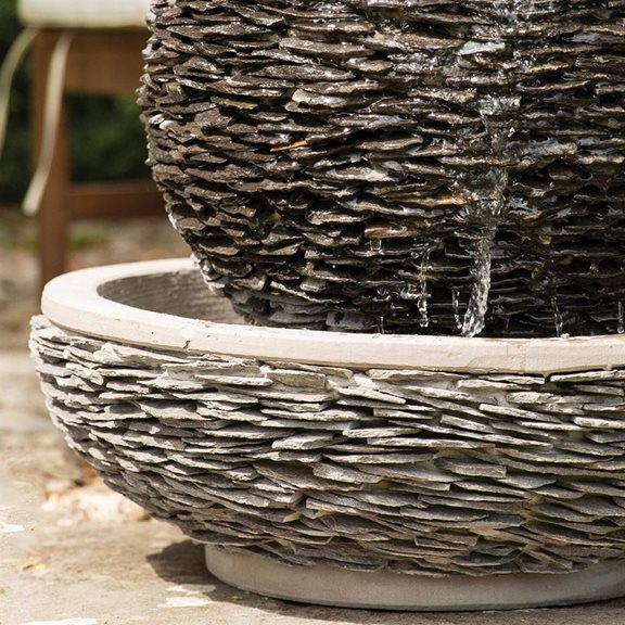 additional image for Lagoon Slate Sphere & Bowl Water Feature