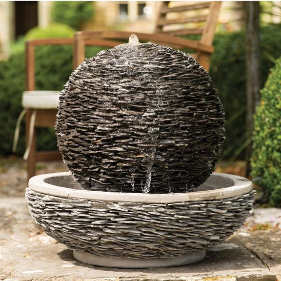 Lagoon Slate Sphere & Bowl Water Feature