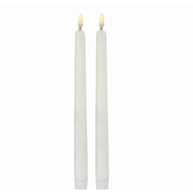 2 Piece Taper Candles with Flickerbright Flame