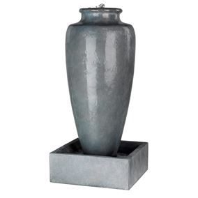 Large Slim Jar Antique Grey Water Feature