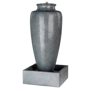 Kaemingk Large Slim Jar Antique Grey Water Feature