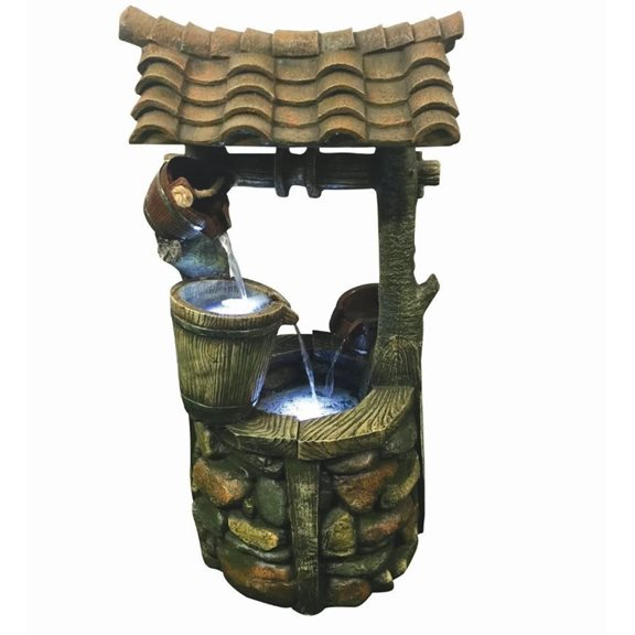 additional image for Large Wishing Well Garden And Patio Water Feature