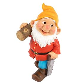 Lumberjack Gnome with Saw