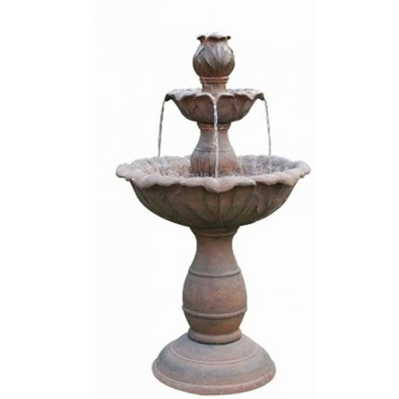 Three Tier Rust Fountain Water Feature