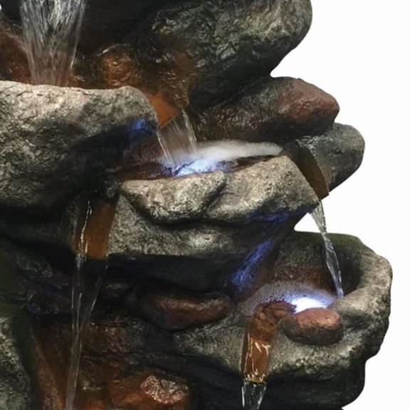 additional image for Multi Rockfalls Water Feature with LED Lights