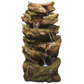 Multifall Woodland Water Feature with LED Lights