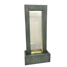 Novara Zinc Metal Water Feature with Rain Effect