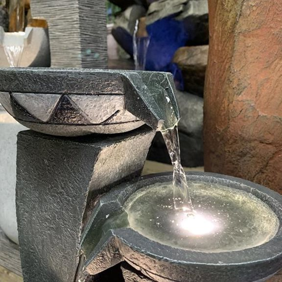 additional image for Mozaic Grey Bowls Water Feature