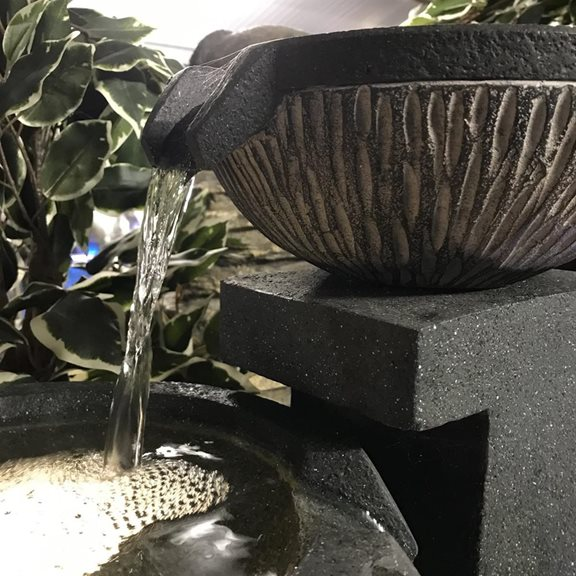 additional image for 5 Bowl Textured Granite Water Feature