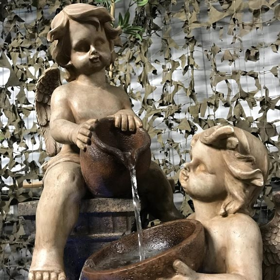 additional image for Two Angels with Spilling Urns Water Feature