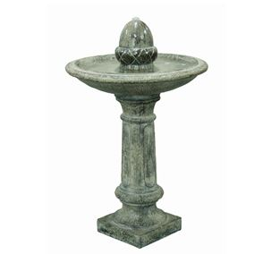 Solar Powered Finial on Pillar Water Feature
