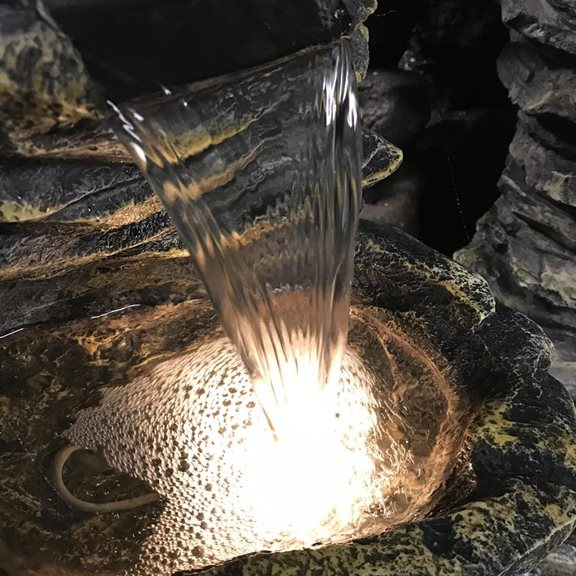 additional image for Four Falls Rock Cascade Lit Water Feature