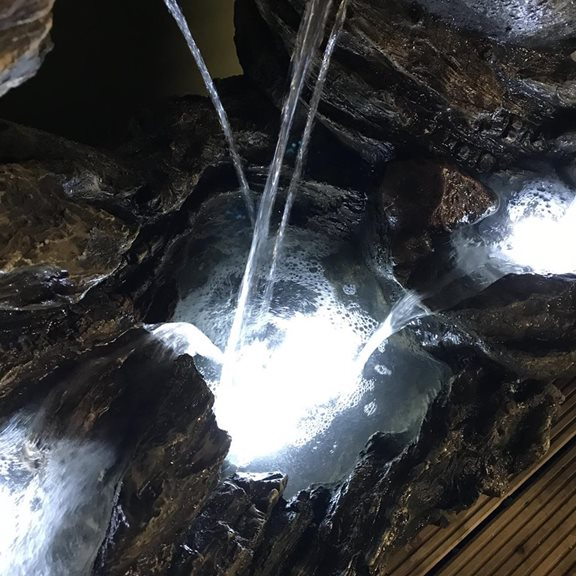 additional image for Connecticut Rock Falls Water Feature with LED Lights