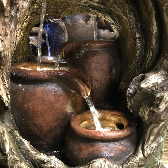 additional image for Pouring Woodland Pots Water Feature