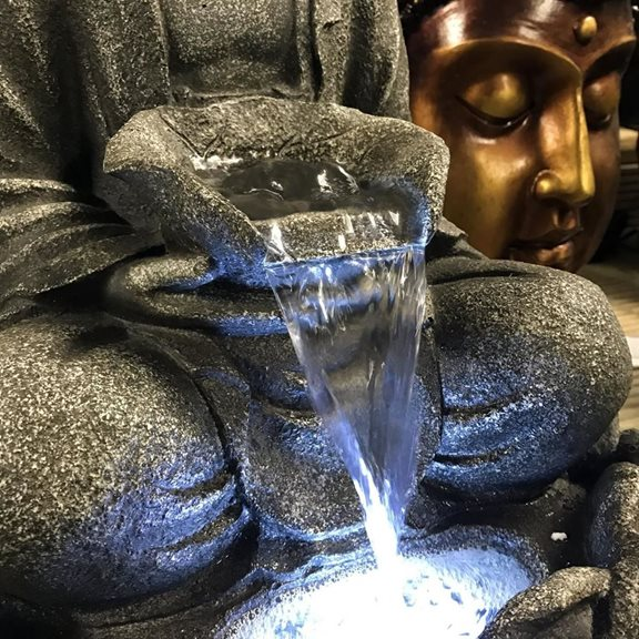 additional image for Medium Grey Buddha Water Feature