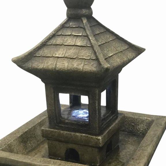 additional image for Pagoda on Column Lit Water Feature with LED lights