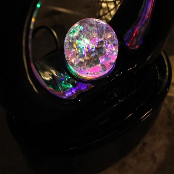 additional image for Roselle Indoor Tabletop Lit Water Feature with Crystal Ball