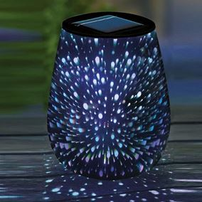 Solar Powered Droplet Holographic Stargazer Table Light