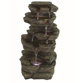 Slate Falls LED Lit Garden Patio Water Feature
