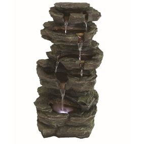 Solar Slate Falls Water Feature