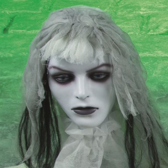 additional image for Spooky Spinning Head Zombie Bride Animated Halloween Display