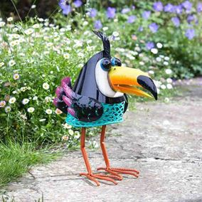 Tango Toucan Solar Powered Metal Silhouette Garden Light