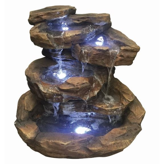 Toledo Rock Formation Water Feature with LED Lights
