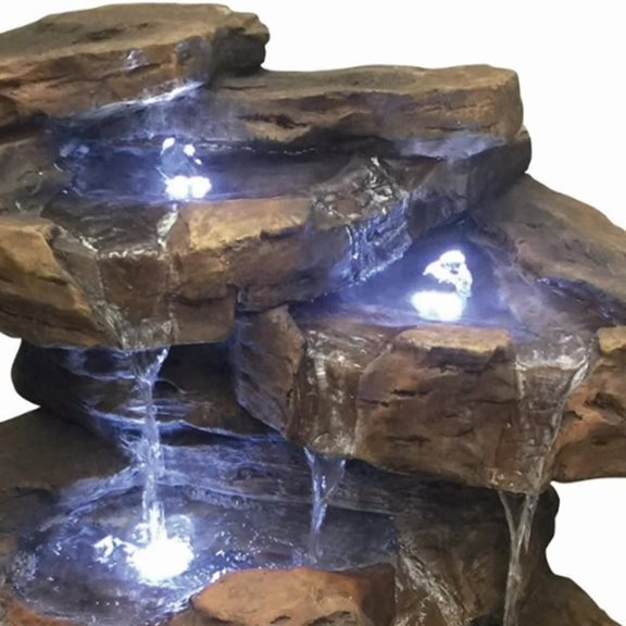 additional image for Toledo Rock Formation Water Feature with LED Lights