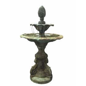 2 Tier Glass Reinforced Concrete Fountain Water Feature