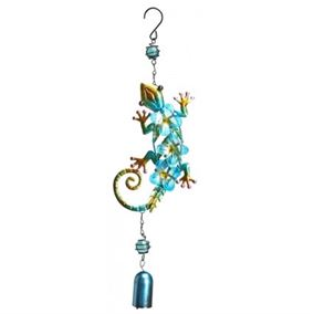 Colourful Hanging Lizard Garden Wind Chime