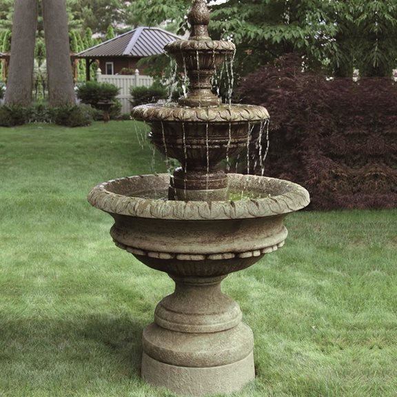 Cast Stone Chanticleer Fountain (Revel Brown)