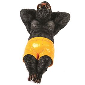 Chilling Sunbathing Gorilla Garden and Home Ornament