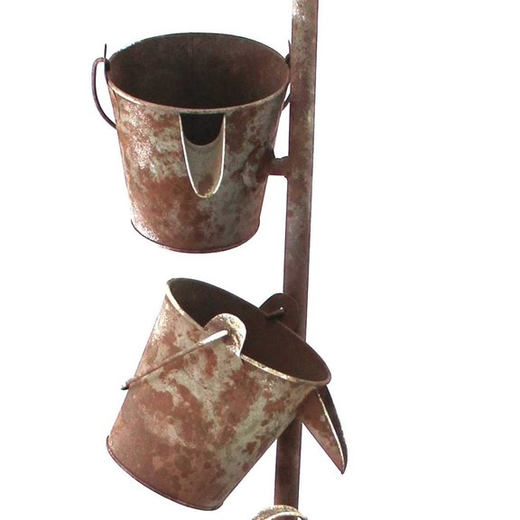 additional image for Metal Wheel Barrow Fountain Water Feature
