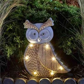 Woodstone Inlight Owl Solar Powered Garden Light