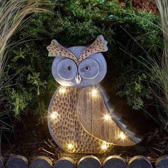 Woodstone Inlight Owl Solar Powered Garden Light