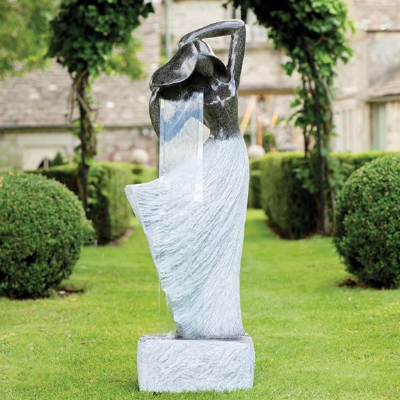 Large Maiden Pouring Woman Outdoor Tranquil Water Feature