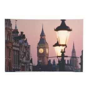 Big Ben at Night London Scene Lit Indoor Wall Canvas