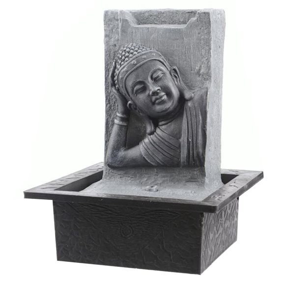 additional image for Grey Buddha Head & Body on Wall Indoor Water Feature