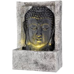 Buddha Face LED Lit Oriental Water Feature