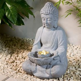 Oriental Buddha Water Feature with LED Light
