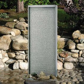 The Rippled Rhine Stainless Steel Water Feature 120cm