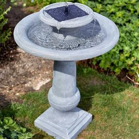 Chatsworth Solar Powered Garden Water Feature Bird Bath