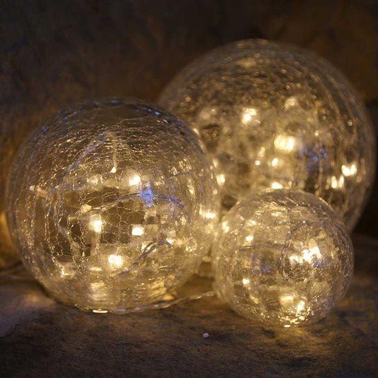 Crackle Glass Wall Lights