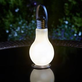 Pack of 4 Solar Powered Eureka Beta Frosted Retro Garden Lights