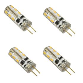 12V ADC Warm White LED G4 Lamp Replacement Water Feature Bulb 2 Watt (4 Pack)